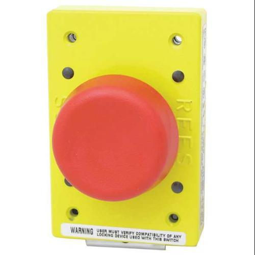 REES 02182-202 Emergency Stop Push Button,Red G9999507