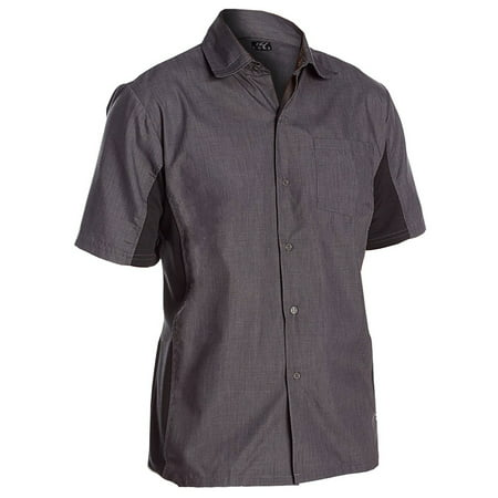 Chef Code Utility Work Shirt with Button Front and Vent Side