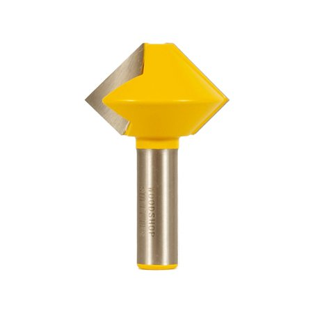 Bird's Mouth Glue Joint Router Bit - 8 Sided - 1/2