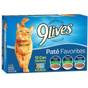 9 Lives Wet Daily Essentials Variety ct 5.5oz Cat Food, 12 ct