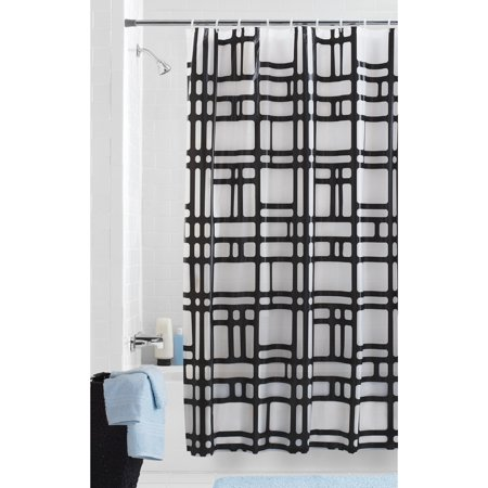 Mainstays Elements Geometric PEVA Shower