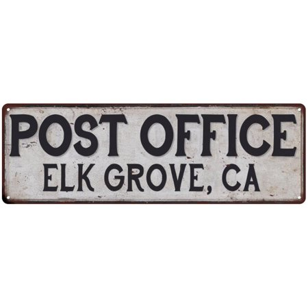 Elk Grove, Ca Post Office Personalized Metal Sign Vintage 8x24 108240011139 - Party City Elk Grove