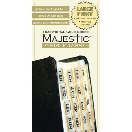 (Majestic Bible Tabs Traditional Gold Large Print)