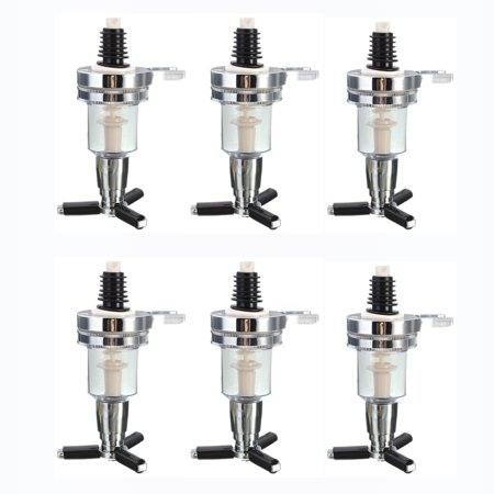 Six Bottle Shot Dispenser - 6 Pack Set Replacement Nozzle Shot Dispenser Liquor Bottle