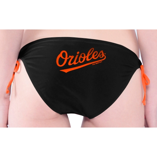 Baltimore Orioles Women's Southpaw Bikini Bottom - Black