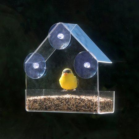 Window Alert Bird - Evelots Clear Acrylic Window Bird Feeder, Strong All Weather Suction Cups