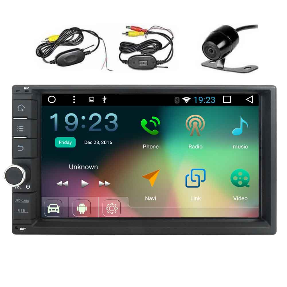 EinCar 7'' HD Touch Screen 2 Din Android Car Navigation S...