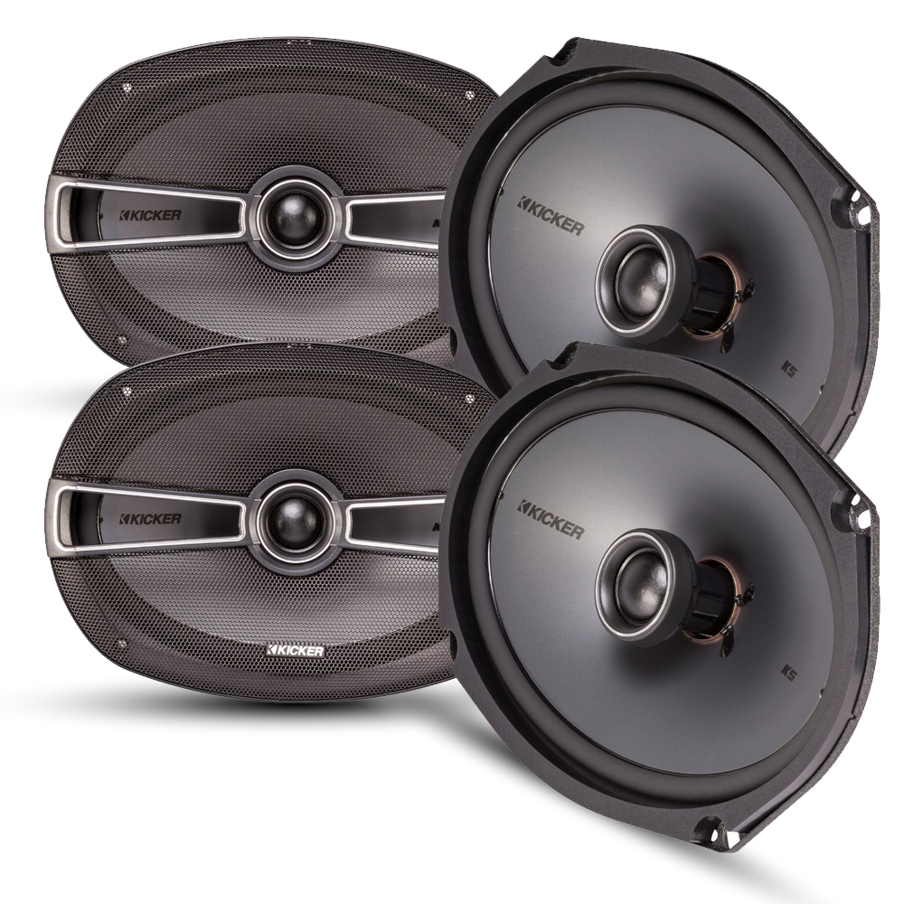 Kicker Speaker Bundle - Two pairs of Kicker 6x9 Inch KS-Series Speakers 41KSC694