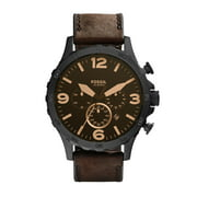 Fossil Men's Nate Chronograph Brown Leather Band Watch