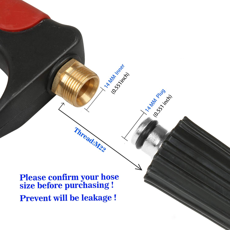 Nozzle /& Hose Kit 3200 PSI Wand//Lance Gas High Pressure Washer Spray Gun