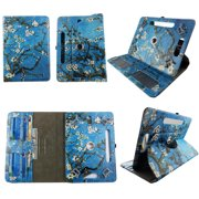 """Blossom tablet case 7 inch for LG G Pad LTE 7"""" 7inch android tablet cases 360 rotating slim folio stand protector pu leather cover travel e-reader cash slots"""