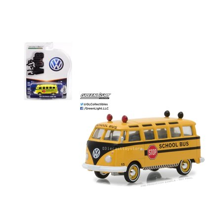 GREENLIGHT 1:64 CLUB V-DUB SERIES 6 - 1964 VOLKSWAGEN SAMBA BUS - SCHOOL BUS 29890-B (Volkswagen Series)