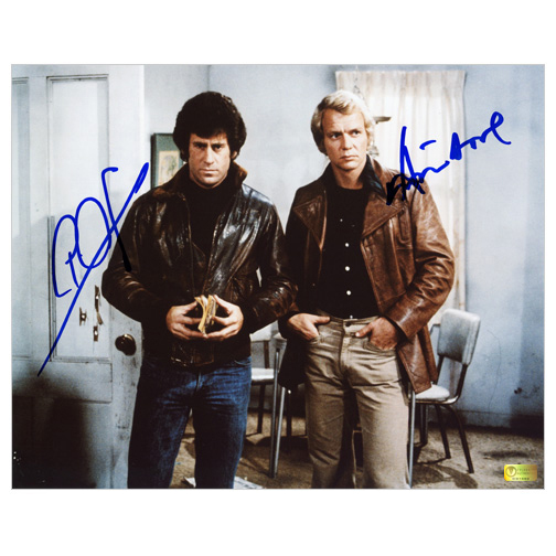 David Soul and Paul Michael Glaser Autographed 8?10 Starsky and Hutch Scene Photo