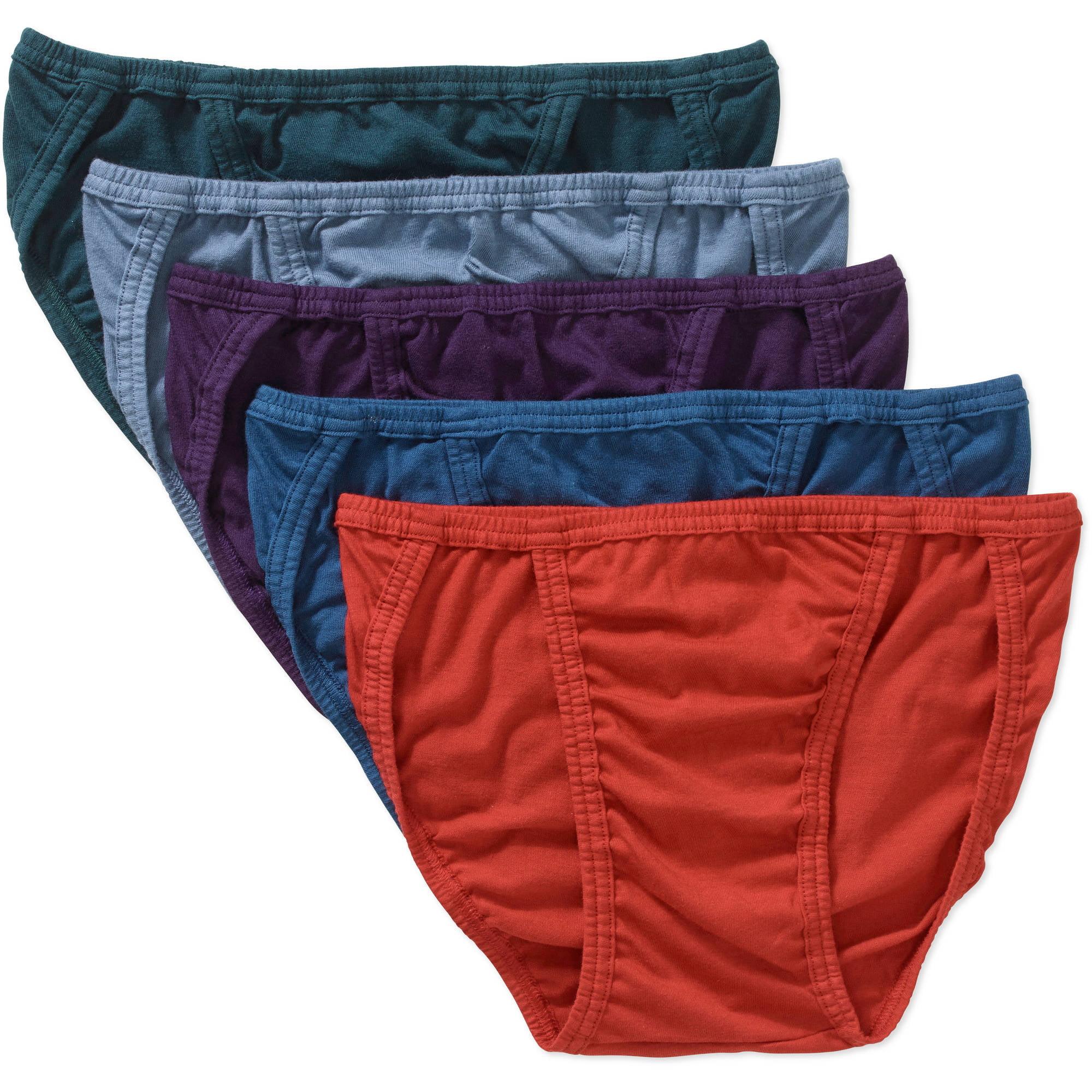 Life by Jockey Assorted Cotton String Bikini, 5 pack