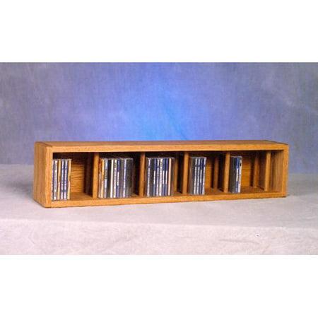 The Wood Shed Solid Oak Desktop / Shelf 67 CD Media Cabinet