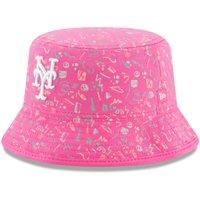 New York Mets New Era Infant Pattern Bucket Hat - Pink - OSFA