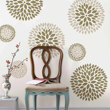 (WallPops Chrysanthemum Wall Art Decals Kit)