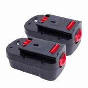 2PCS 18 Volt 2000mAh Battery For Black & Decker Firestorm FS18BX FS180BX HPB18