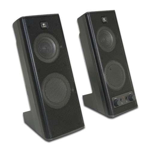 Logitech X-140 2.0 Speakers - 2 Channels, 5-Watts RMS, AUX In, Volume Control
