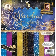 "Paper Stack 12""X12"" 48/Pkg-Stardust, Pk 1, Diecuts With A View"