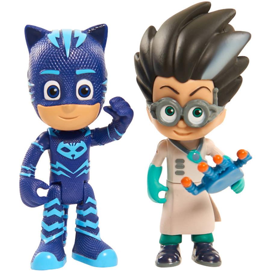 PJ Masks Figure, 2 Pack, Catboy vs Romeo