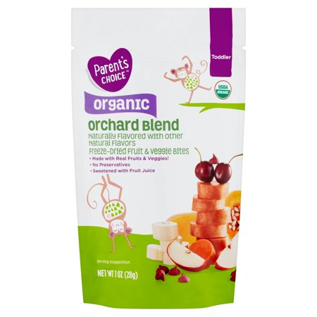 Parent's Choice Organic Fruit & Veggie Bites, Orchard Blend, Toddler, 1 oz
