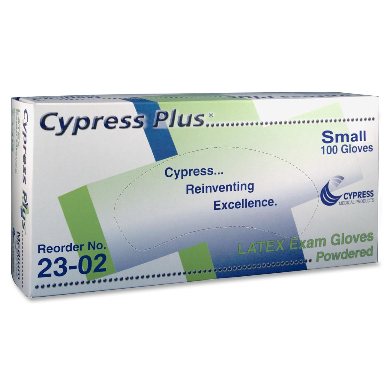 Cypress Plus Cypress Plus Lightly Powdered Smooth Latex Examination Gloves - Latex - Powdered - 100/box (mcpp049302)