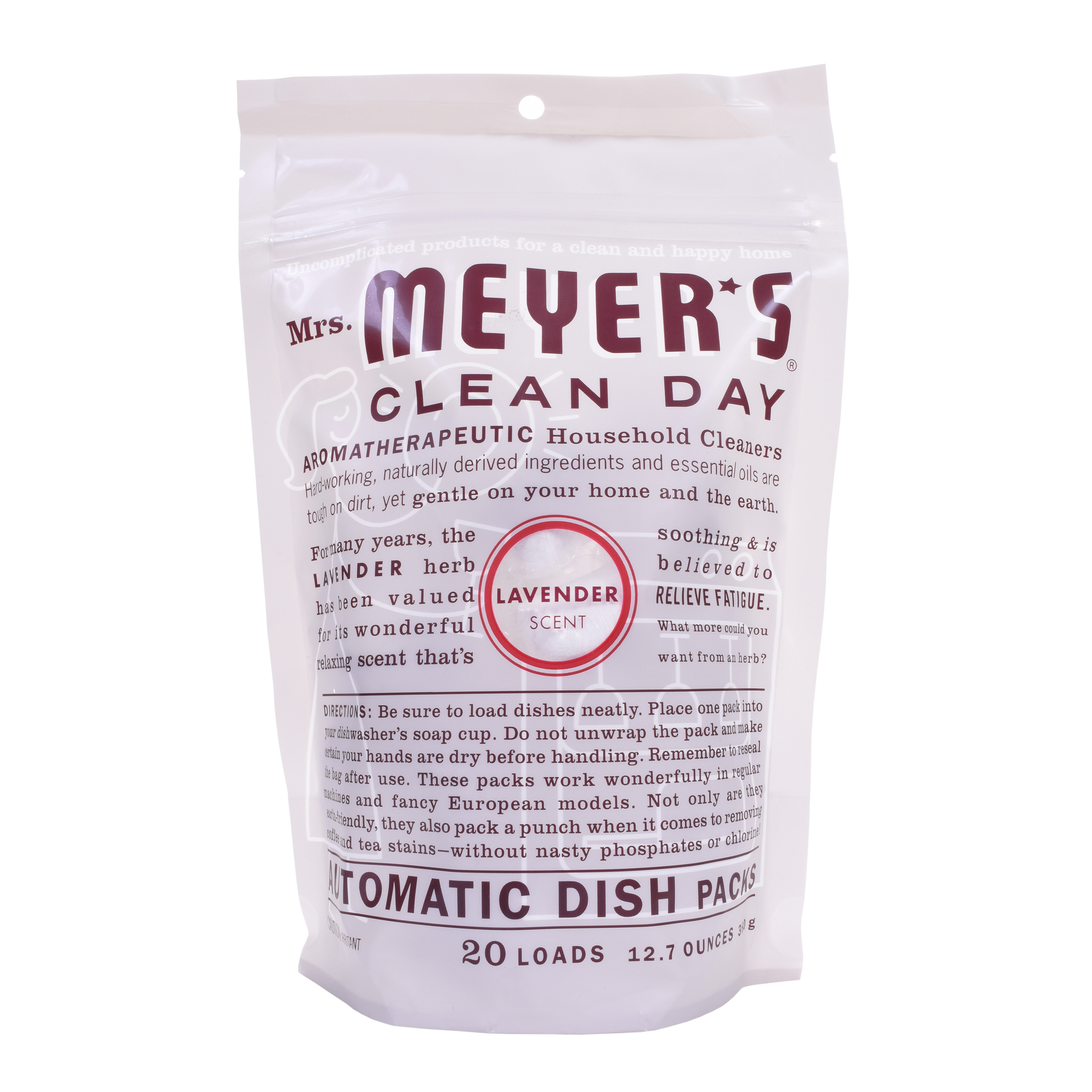 Mrs. Meyer's Clean Day Automatic Dish Packs,  Lavender, 20 count