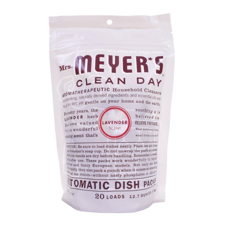 Mrs. Meyer's Clean Day Automatic Dishwashing Packs, Lavender, 20