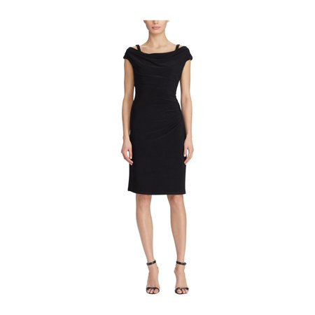 dd192b1cdb Ralph Lauren Womens Off The Shoulder A-line Dress bkbkshne 14 - image 1 of  ...
