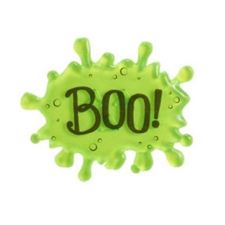 Green Candy Buffet (Lime Green Halloween Slime BOO Drip Script Cake Toppers - 1 Piece - 22841L - National Cake)