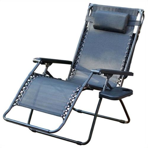 Jeco Oversized Zero Gravity Chair with Sunshade and Drink