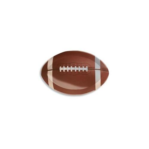 """Creative Converting Football Shaped Serving Tray - 17"""" by 12"""" Plastic Platter"""