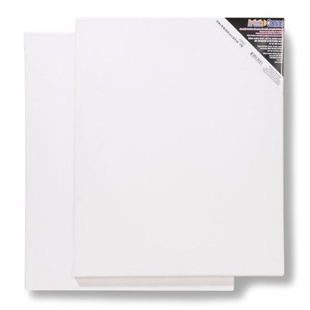 Blank Prestretched Artist Canvas: 16 x 20 inches, 2 pack