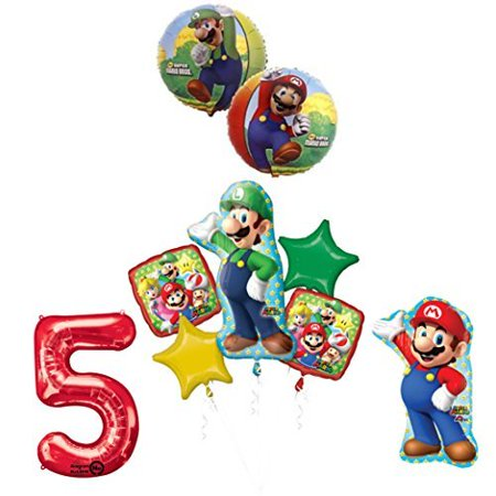 The ULTIMATE Super Mario Brothers and Luigi 5th Birthday Party - Super Mario Brothers Party Supplies