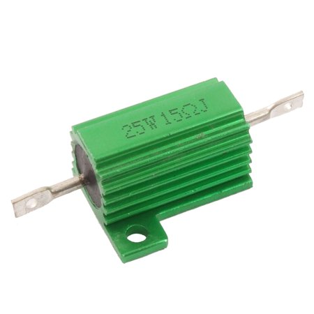 Green 25 Watt 15 Ohm 5% Aluminum Housed Wire Wound - Green Resistor