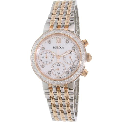 Bulova Women's Diamond 98R215 Rose Gold Stainless-Steel Quartz Watch