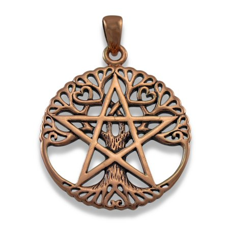 - Large Copper Tree Of Life Pentacle Pendant Pagan