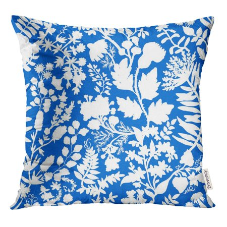 STOAG Block Fantasy Flowers Natural Floral Curl Batik Bohemian Ethnic Paisley Throw Pillowcase Cushion Case Cover 16x16 inch ()