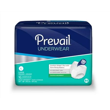 Prevail Super Plus Adult Underwear LARGE Breathable PVS-513 16/Pack