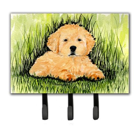 - Caroline's Treasures Golden Retriever Leash Holder and Key Hook