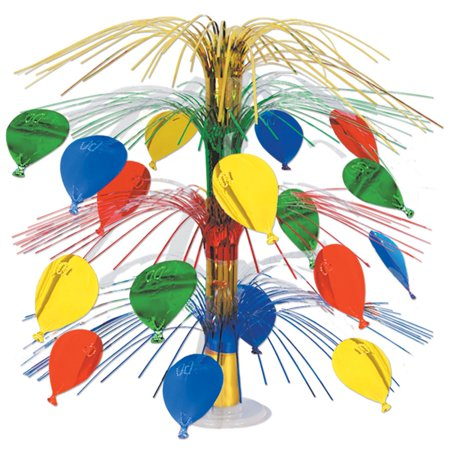 Club Pack of 6 Multi-Colored Ballon Cut-Out Cascade Table Centerpiece Decorations 18