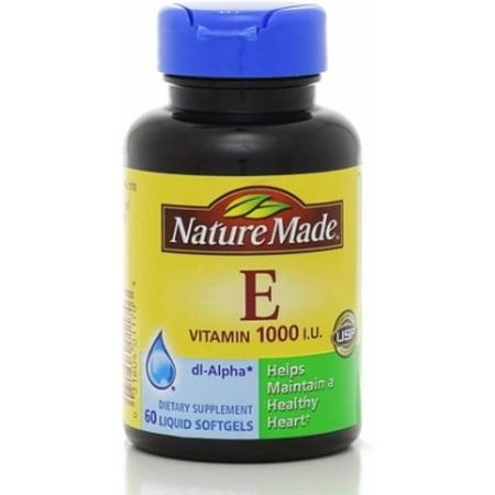 Nature Made dl-alpha vitamine E 1000 UI Gélules 60 ch