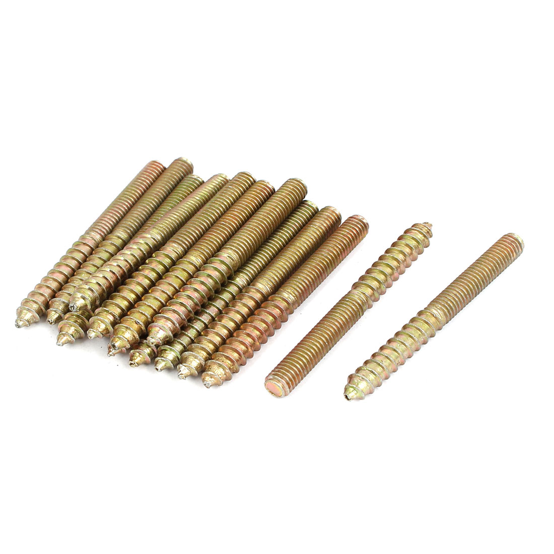 Unique Bargains M6x59mm Double Ended Threaded Self Tapping Wood Screw Rod Bar Bolt Stud