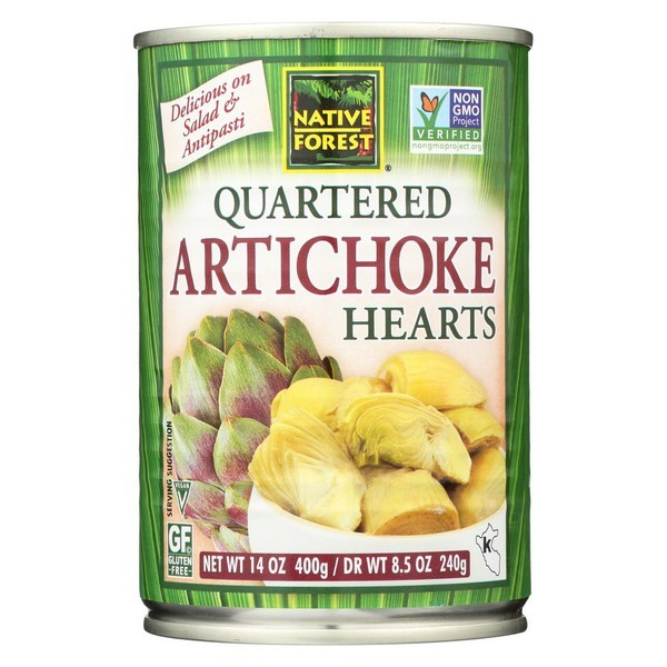 Native Forest Quartered Artichoke Hearts - pack of 6 - 14 Oz.