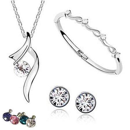 Amazipro8 Fashion Jewelry Sets Free Diamond Anti Dust Plug Earrings