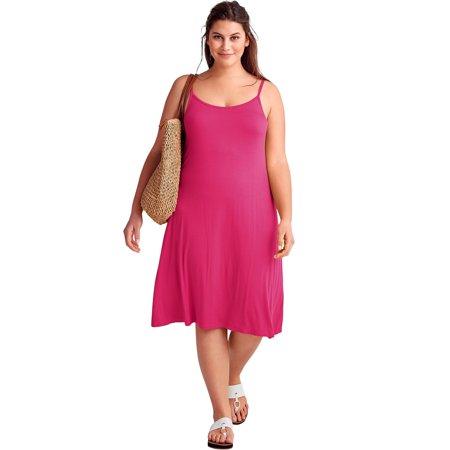 Ellos - Plus Size Tank A-line Dress - Walmart.com