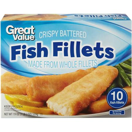 Great value crispy battered fish fillets 10ct for How to freeze fish fillets