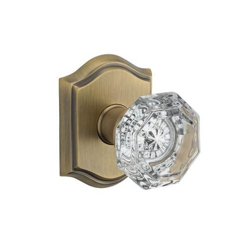 Baldwin Crystal Single Dummy Door Knob with Traditional Arch Rose