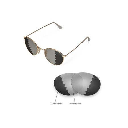 0171ff6334 Walleva - Walleva Transition Photochromic Polarized Replacement Lenses for  Ray-Ban Round Metal RB3447 50mm Sunglasses - Walmart.com
